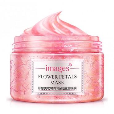 Маска-гель для лица с лепестками розы